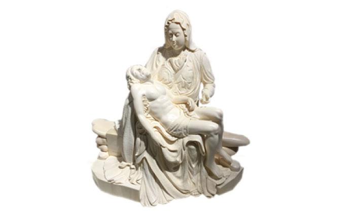 Ivory Sculpture Piece 「Pietà」