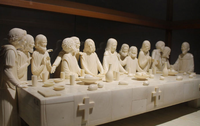 Ivory Sculpture Piece 「The Last Supper」