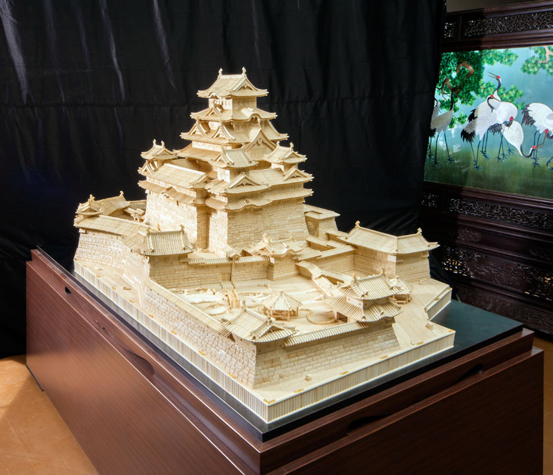 Himeji Castle (Largest in world ivory sculpture)(Koukadou's Products/ Results)