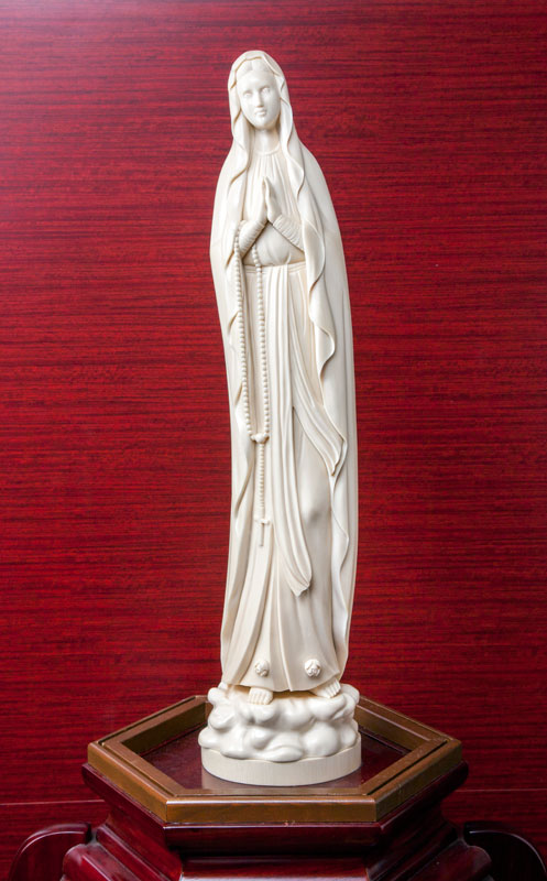 Ivory Statue of the Virgin Mary of Lourdes(Koukadou's Products/ Results)