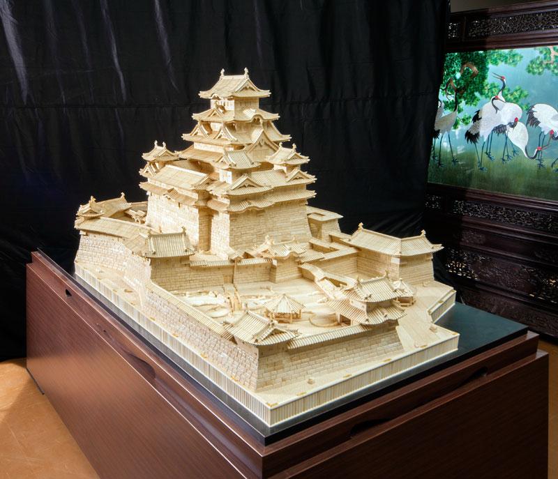 世界一大きな象牙彫刻 姫路城(光香堂実績)