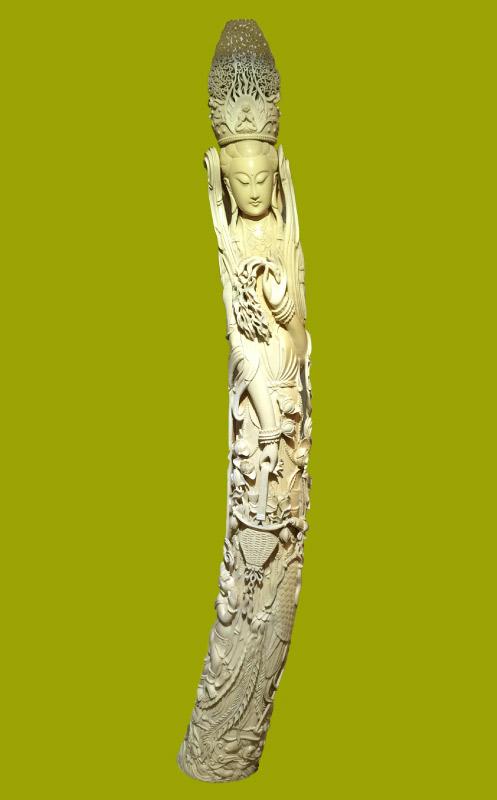 日本一大きな象牙彫刻 聖観音像(光香堂実績)
