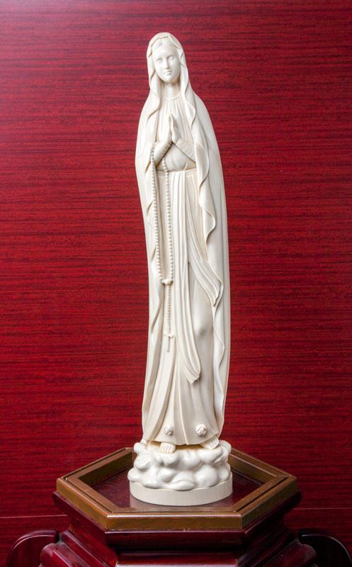 象牙彫刻ルルドのマリア様(光香堂実績)