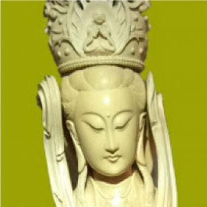 日本最大級 象牙彫刻 聖観音像