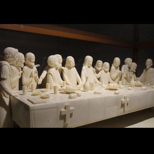 象牙雕刻最后的晚餐