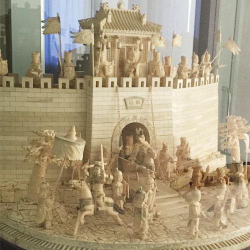 象牙彫刻 万里の長城