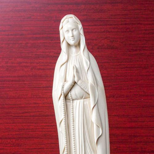象牙雕刻 卢尔德的玛利亚圣像(光香堂 业绩)