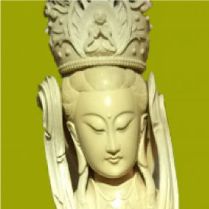 日本最大象牙雕刻 圣观音像
