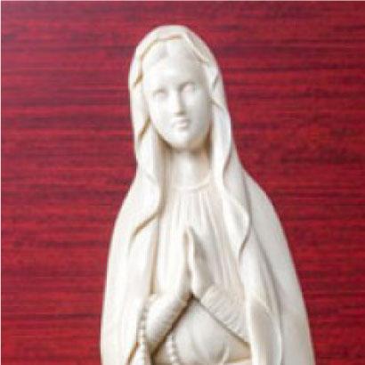 象牙雕刻 卢尔德的玛利亚圣像